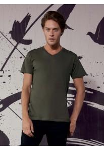 T-shirt manches courtes col V bio