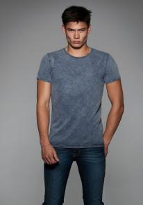 T-shirt manches courtes vintage col rond