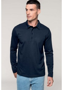 Polo manches longues col chemise