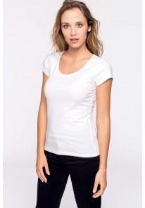 T-shirt manches courtes encolure large
