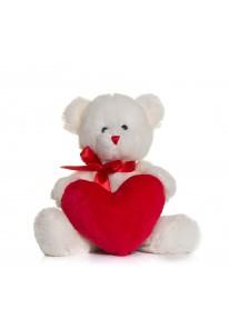 Peluche ours cœur