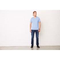 T-shirt manches courtes col V chiné
