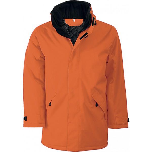 Parka doublure matelassée, Couleur : Orange, Taille : M